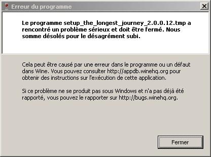 gog installer runtime error